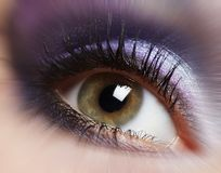 Fashion woman eye makeup. Royalty Free Stock Images