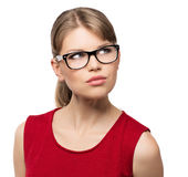 Fashion woman in eyeglasses Royalty Free Stock Photo