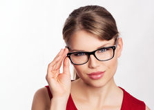 Fashion woman in eyeglasses Royalty Free Stock Photo