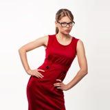 Fashion woman in eyeglasses Royalty Free Stock Image