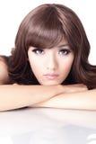 Fashion woman face portrait close up Stock Images