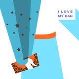 Fashion woman. Girl holding a bag. Vector illustration eps 10 vector illustration