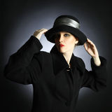 Fashion woman in hat Stock Photography