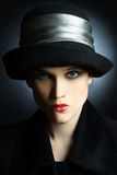 Fashion woman in hat Royalty Free Stock Image