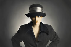Fashion woman in hat and coat Royalty Free Stock Photos