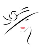 Fashion woman in hat. Young Fashion woman in hat Stock Image