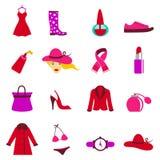 Fashion woman icons Stock Photos