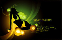 Fashion woman illustration Royalty Free Stock Photo