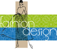 Fashion woman illustration. Royalty Free Stock Image