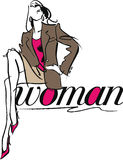 Fashion woman illustration. Stock Photos