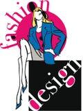 Fashion woman illustration. Stock Photo