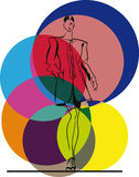 Fashion Woman illustration Royalty Free Stock Image