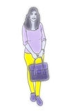 Fashion woman illustration Stock Image