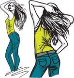 Fashion woman illustration. Fashion woman, illustration made in adobe illustrator Stock Photo