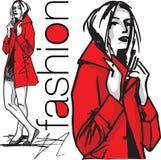 Fashion woman illustration Royalty Free Stock Photography