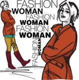 Fashion woman illustration. Fashion woman, illustration made in adobe illustrator royalty free illustration