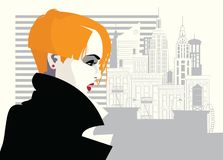 Free Fashion Woman In Style Pop Art. Vector Illustration Royalty Free Stock Photography - 144974667
