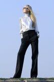 Fashion Woman In The Sun Stock Photography