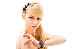 Fashion woman with jewelry Royalty Free Stock Photos