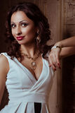 Fashion woman with jewelry bijouterie Royalty Free Stock Photography