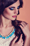 Fashion woman with jewelry Stock Photography