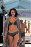 Fashion woman lingerie catwalk Royalty Free Stock Photo