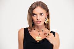 Fashion woman looking at camera Royalty Free Stock Photo