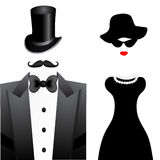 Fashion woman and man portrait Stock Images