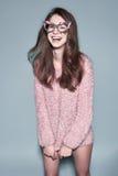 Fashion woman mask sunglasses design decorative portrait Stock Images