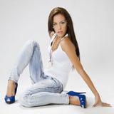 Fashion woman model Royalty Free Stock Photos