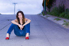 Fashion woman outside Royalty Free Stock Images