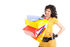Fashion woman with packages Stock Image