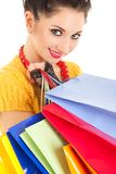 Fashion woman with packages Stock Photography