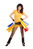 Fashion woman with packages Royalty Free Stock Photo