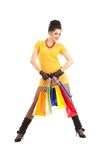 Fashion woman with packages Royalty Free Stock Image