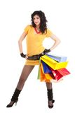 Fashion woman with packages Stock Photo