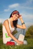 Fashion woman in the park Royalty Free Stock Photo
