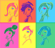 Fashion Woman Pop Art Royalty Free Stock Photos