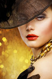 Fashion Woman portrait Royalty Free Stock Photo