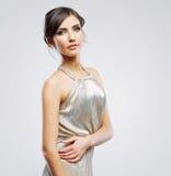 Fashion woman portrait. Beautiful model. Studio Royalty Free Stock Photography