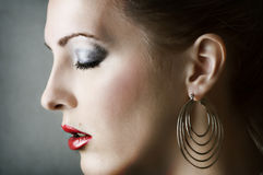 Fashion woman portrait. Make up Royalty Free Stock Photography