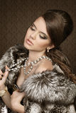 Fashion Woman Portrait with make up Stock Images