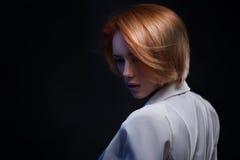 Fashion Woman Portrait. Vogue Style Model. Stock Images