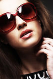 Fashion woman portrait wearing sunglasses Stock Photo