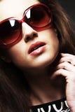 Fashion woman portrait wearing sunglasses Stock Photo