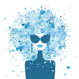 Fashion woman portrait, winter style Royalty Free Stock Images