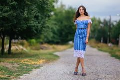 Fashion woman portrait of young pretty trendy girl with beautifu royalty free stock photos