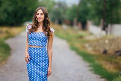 Fashion woman portrait of young pretty trendy girl in retro styl royalty free stock photos
