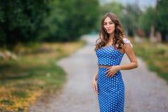 Fashion woman portrait of young pretty trendy girl in retro styl stock image