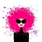 Fashion woman portrait for your design vector illustration